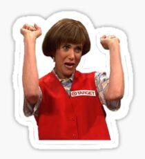 Kristen Wiig Target Lady SNL Cutout Sticker