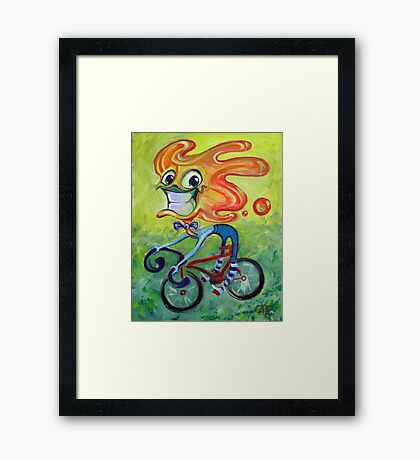 Cartoon Hipster Framed Print