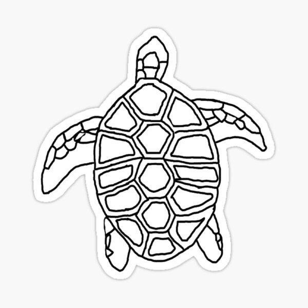 Swimming Turtle Outline Sticker By Strickersbybea Redbubble Download clker's turtle outline clip art and related images now. redbubble