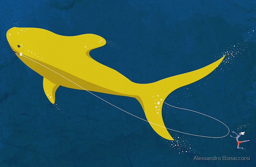 Swimmin' with the great yellow shark by Alessandro Bonaccorsi