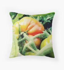 Garden Tomato Throw Pillow