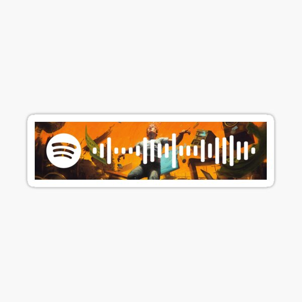 Logic-No Pressure Spotify Scan  Sticker