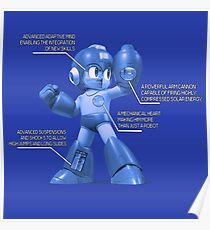Mega Man Design - NES and SNES Interior Makeup Poster