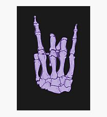 Skeleton hand | Lilac Photographic Print