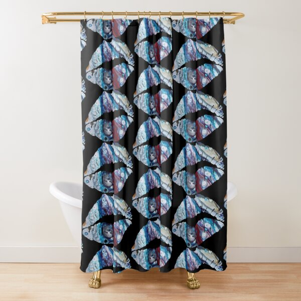 Galaxy kiss Shower Curtain