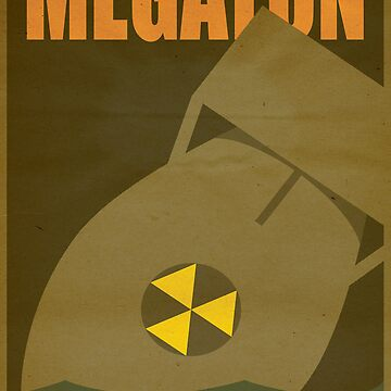 Travel poster Megaton by cloakrunner