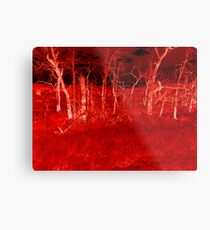 Crimson Forest Metal Print