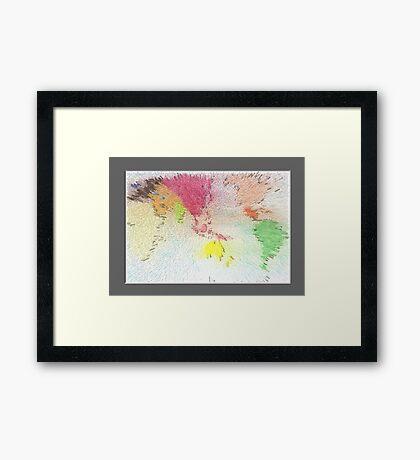 World map as art Framed Print