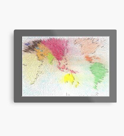 World map as art Metal Print