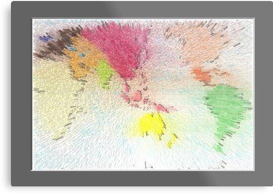 World map as art by David Fraser