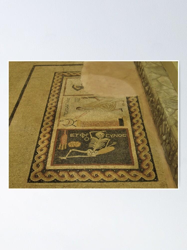 Alternate view of Skeleton, Sundial, African Mosaic Poster