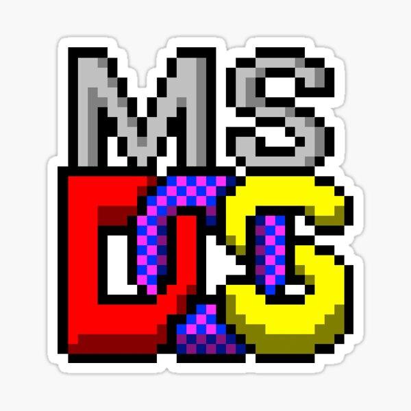 MS DOS Sticker