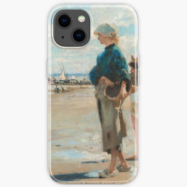 John Singer Sargent - En route pour la peche (Setting Out to Fish) Detail iPhone Soft Case