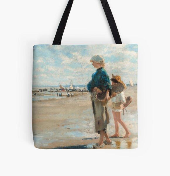John Singer Sargent - En route pour la peche (Setting Out to Fish) Detail All Over Print Tote Bag