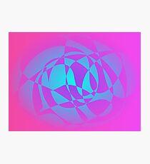 Shining Blue Photographic Print