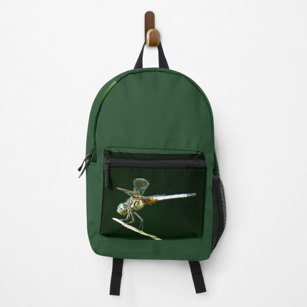 T-Bird's Dragonfly Balanced On A Blade of Grass Backpack