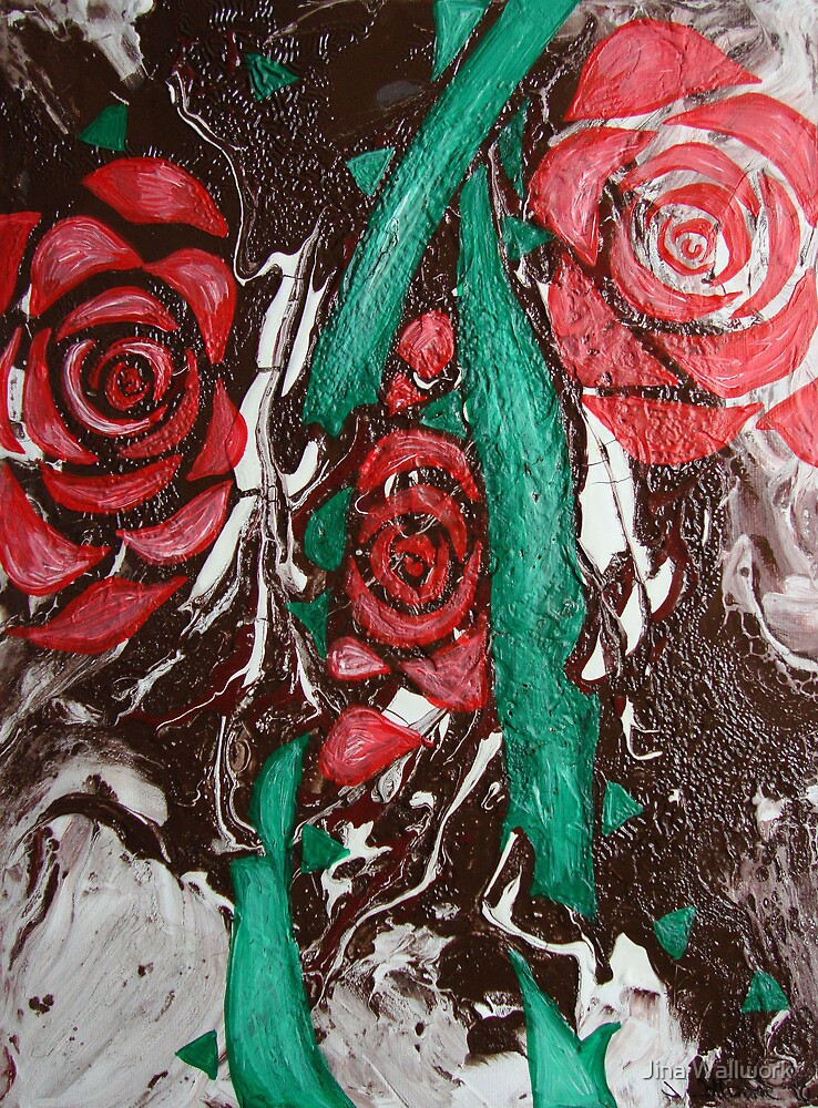 3 Roses by Jina Wallwork