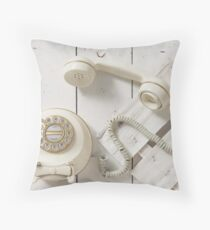 Vintage Rotary Dial Telephone Throw Pillow