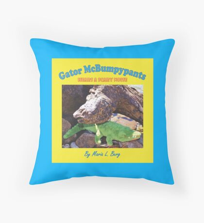 Gator McBumpypants Hears a Scary Noise - Cover Throw Pillow