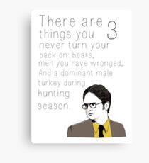 """Dwight's Rule"" Canvas Print"