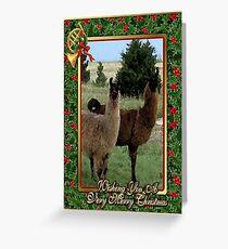 Llama Blank Christmas Card Greeting Card