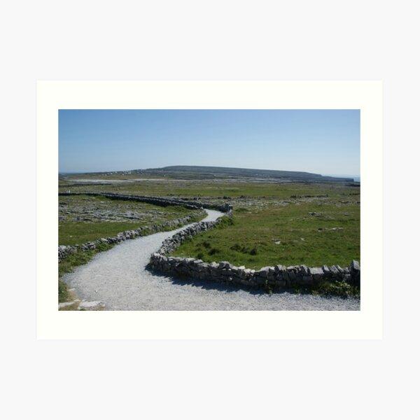 Path to Dún Aonghasa, Aran Islands, Co. Galway, Ireland Art Print