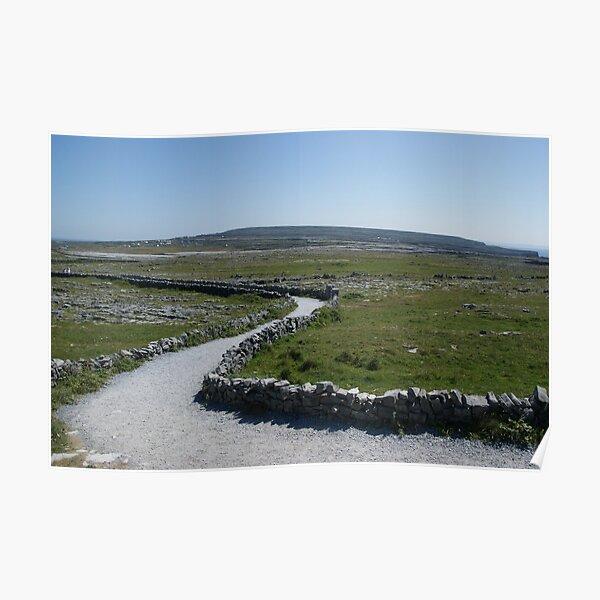 Path to Dún Aonghasa, Aran Islands, Co. Galway, Ireland Poster