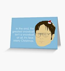 The Snowball Fight Greeting Card
