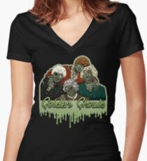 Golden Ghouls Women's Fitted V-Neck T-Shirt