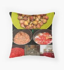 Strawberry Fig Preserves Throw Pillow