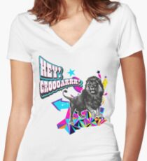 HEY! GROOOOOAR! ★ the lion said ★ Women's Fitted V-Neck T-Shirt