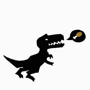 T-Rex eats.  by foriamtheowl