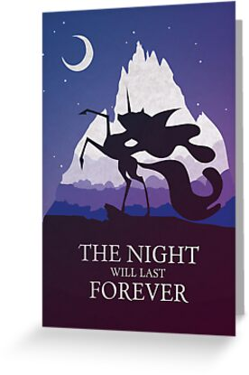 The Night Will Last Forever - Nightmare Moon Print by CainVoorhees