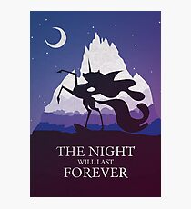 The Night Will Last Forever - Nightmare Moon Print Photographic Print