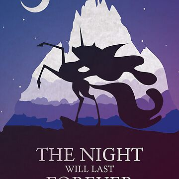 The Night Will Last Forever - Nightmare Moon Print von CainVoorhees