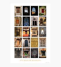 275 Days of Windows Photographic Print