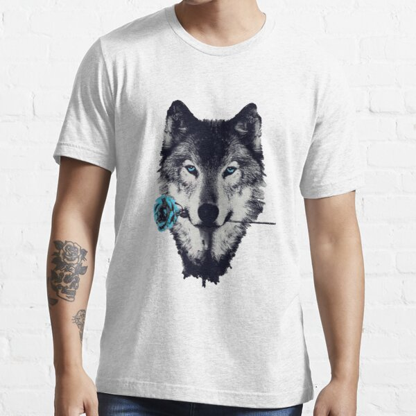 Wolf With a Rose Essential T-Shirt