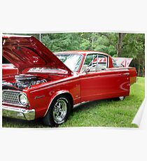 "'66  Plymouth Baracuda ""In the Red""  Poster"