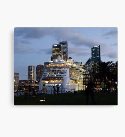 'Radiance of the Seas' in Sydney Canvas Print
