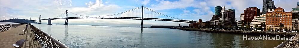 Bay Bridge Panorama by HaveANiceDaisy