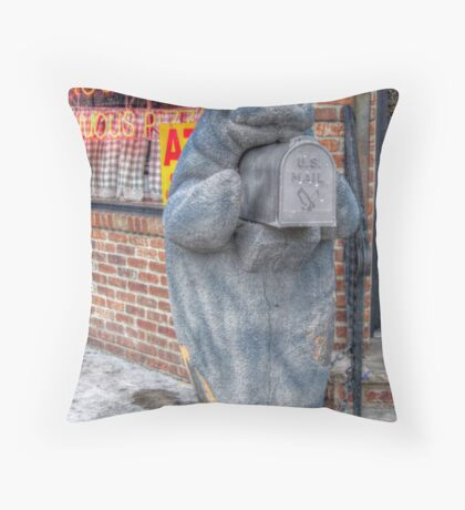 Manatee On A Mailbox Mission Throw Pillow