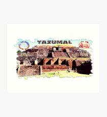 Tazumal Ruta Maya Art Print