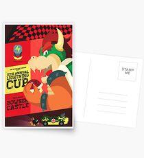Bowser Mario Kart Postcards