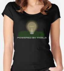 Powered by Tesla - Bulb Women's Fitted Scoop T-Shirt