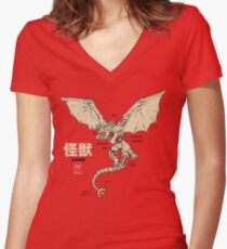 Kaiju Anatomy 2 Women's Fitted V-Neck T-Shirt