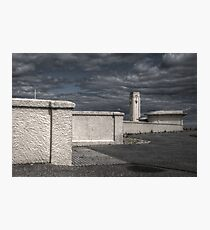 Art Deco Bus Stop & Clock Tower Photographic Print