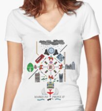 The Maccabees - Elephant and Castle Women's Fitted V-Neck T-Shirt