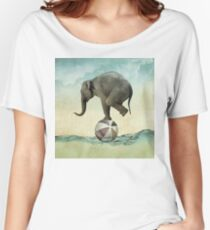 Elephant at Sea Women's Relaxed Fit T-Shirt