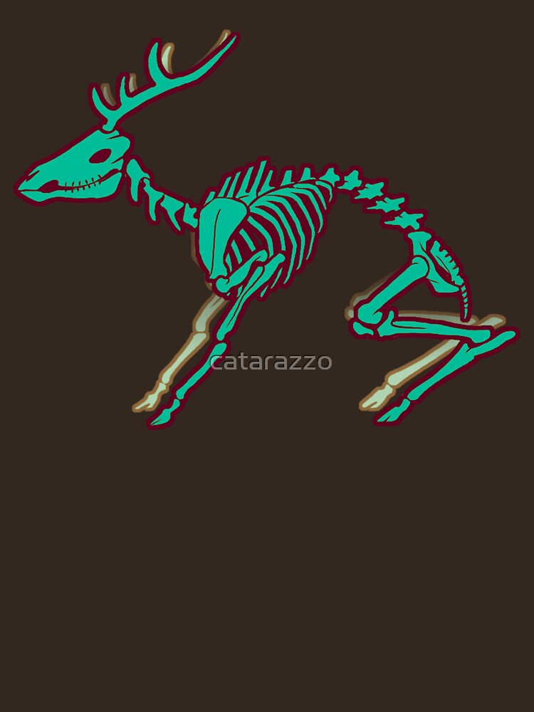 Skeletal deer - Green | Unisex T-Shirt