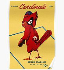 St. Louis Cardinals 1956 Scorecard Poster